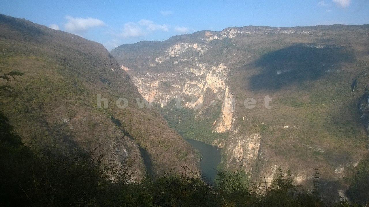 Обзорная площадка Сейба на каньон Сумидеро