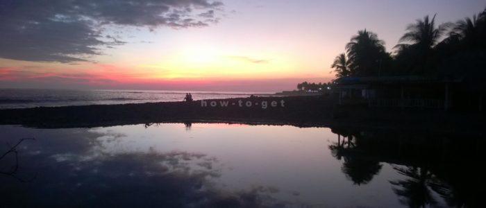 закат в El Tunco, Salvador