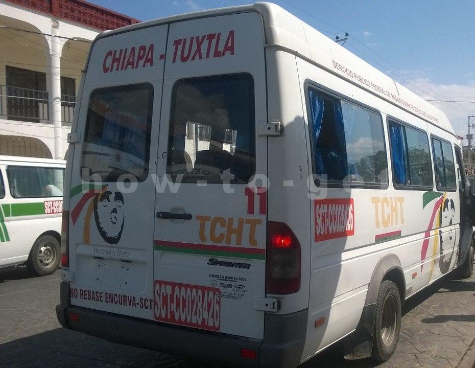 Маршрутка из Тукстлы до ЧИапы