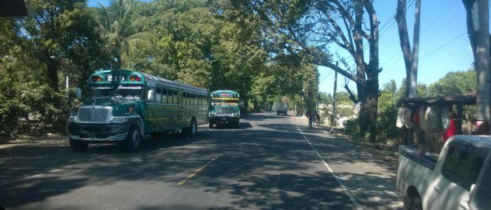 автобусы из Эль Тунко, Сальвадор в сторону Гватемалы