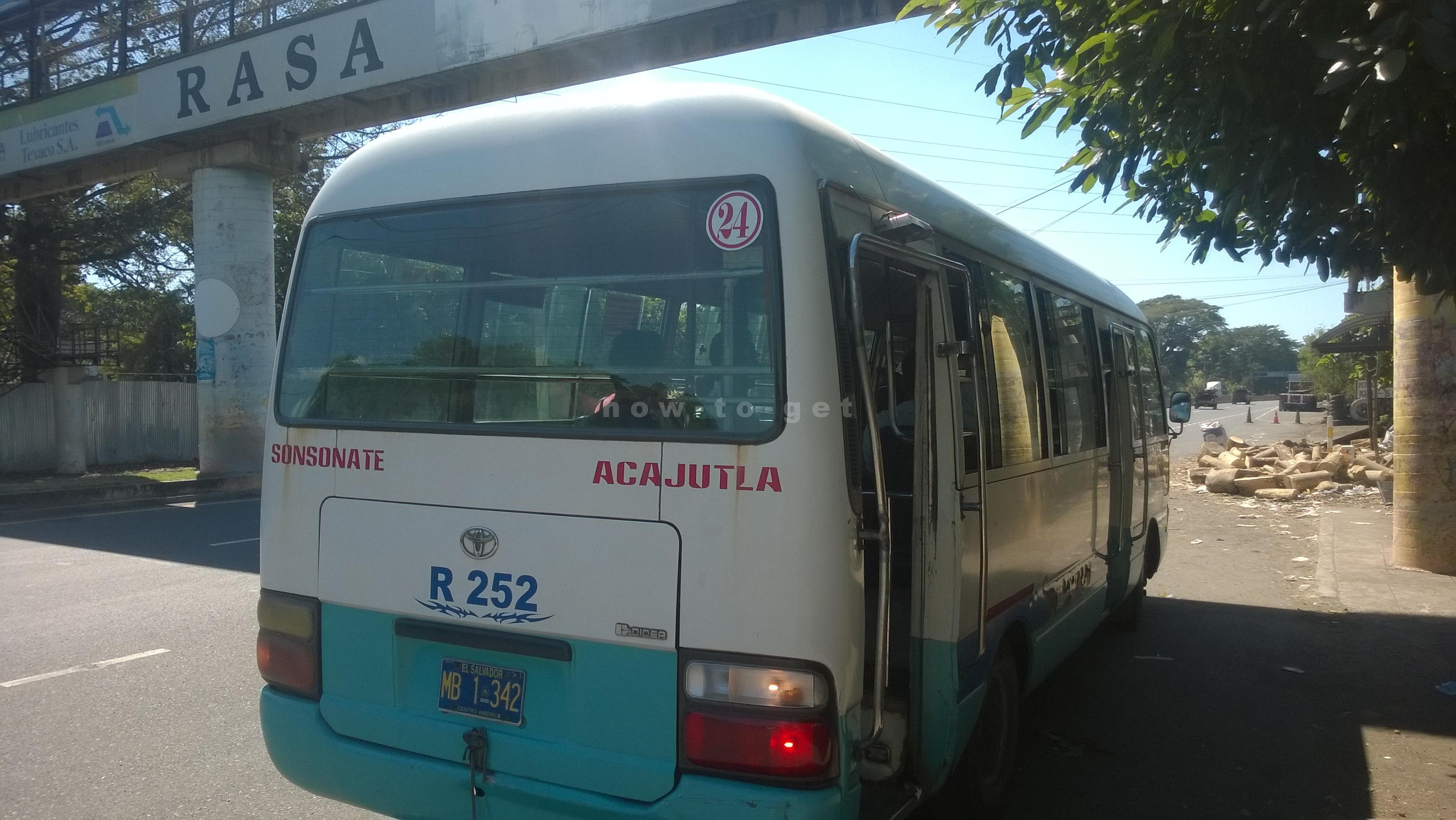 Автобус Акахутла-Сонсонате