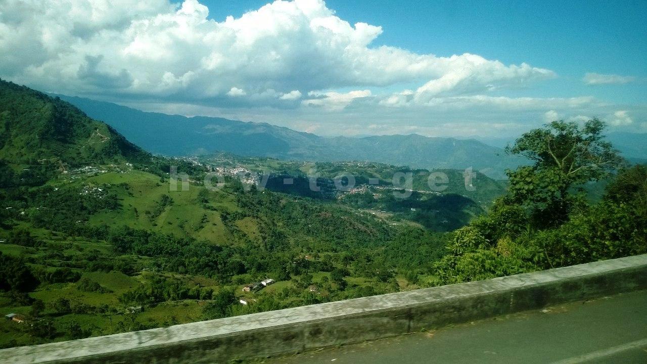 дорога из Медельина в Соленто