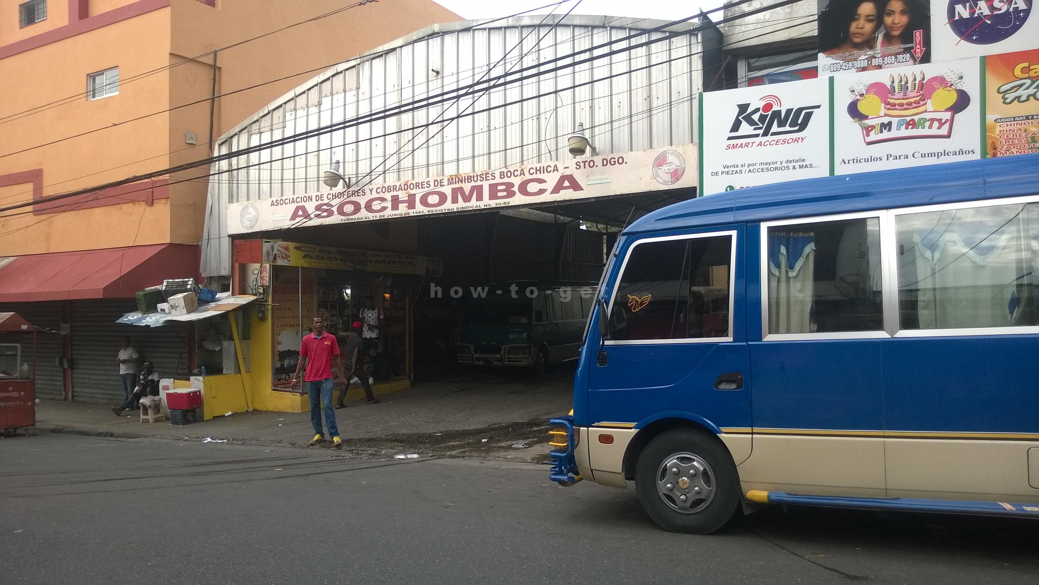 автостанция автобусов в Бока Чика