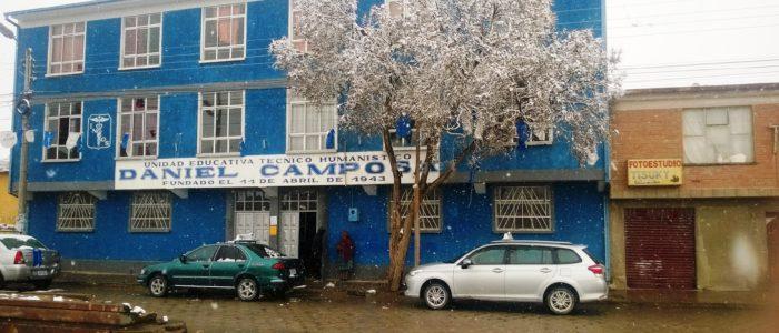 Боливия, снег в городе Уюни
