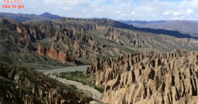 вид на каньон лунная долина